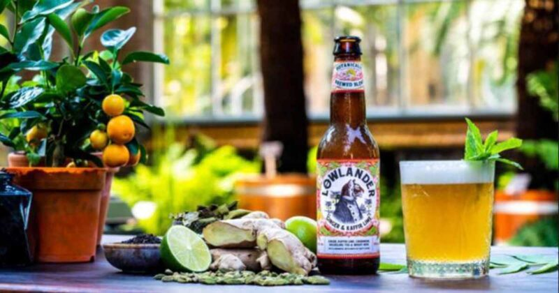 Løwlander Ginger & Kaffir Lime Bier.